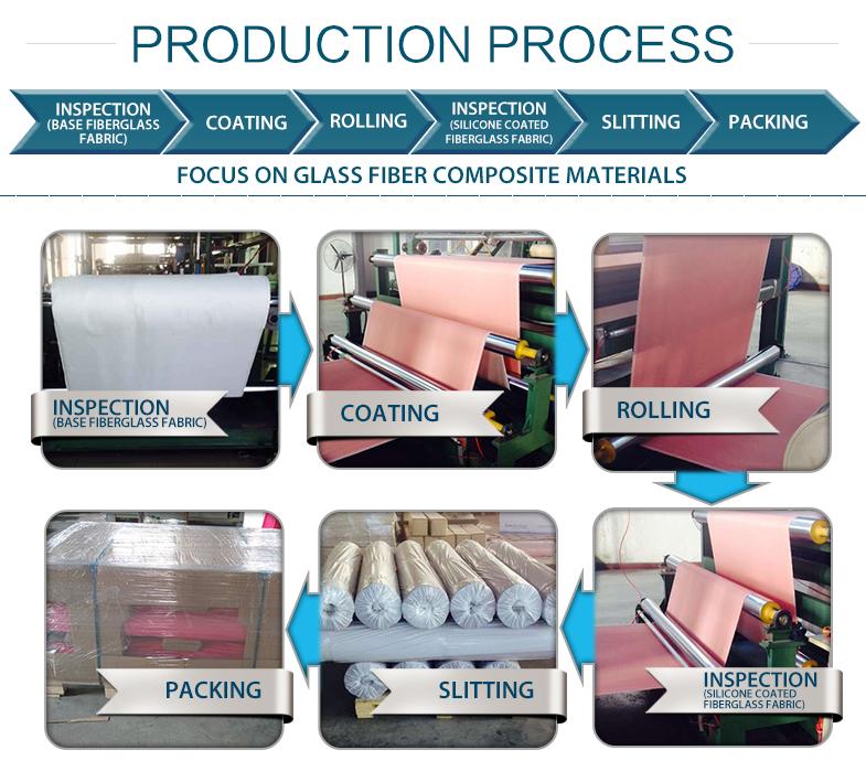 process-of-silicone-coated-fiberglass-cloth